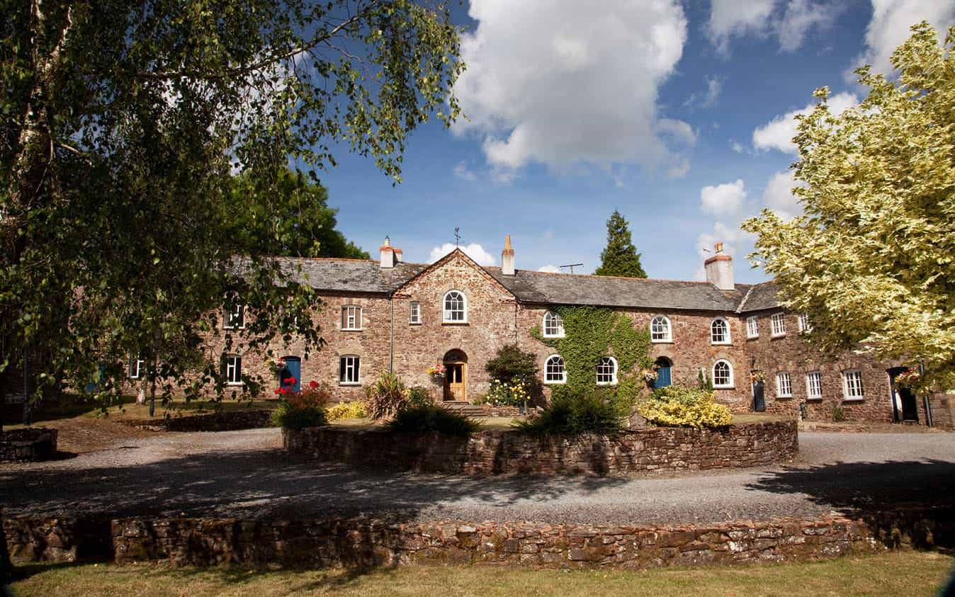 Eggesford Barton House - Exclusive use of Eggesford Barton House with a marquee (price on request). Reception drinks in the beautiful lawned courtyard. Wedding breakfast with spectacular views over the Taw Valley.
