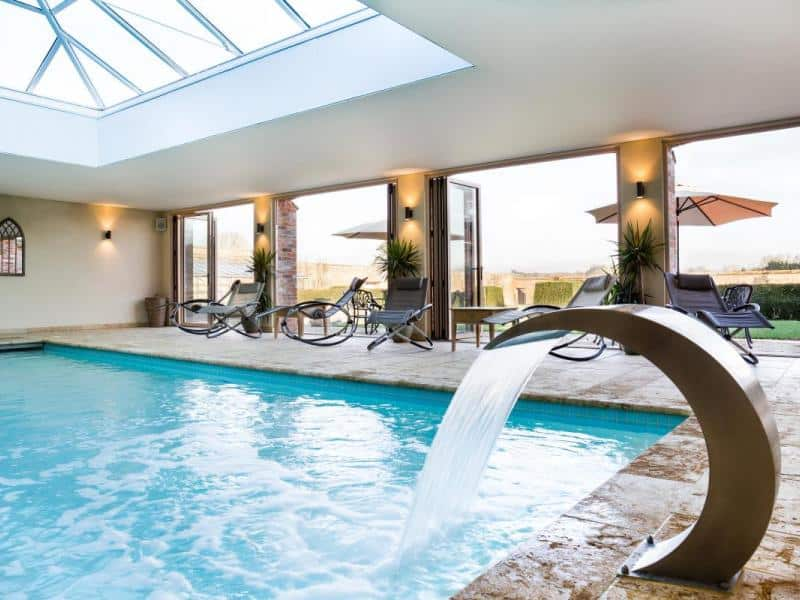 Swimming pool at North Cadbury Court - one of our large country houses to rent